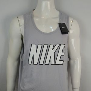 Nike Athletics Tank Men's 3XL Athletic Cut Gray